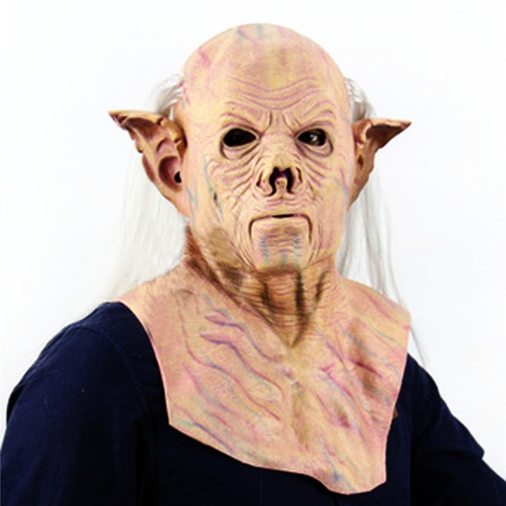 Halloween Party Cosplay Horror Mask Adult Costume Scary Latex Party Oldman Mask At picture Free size