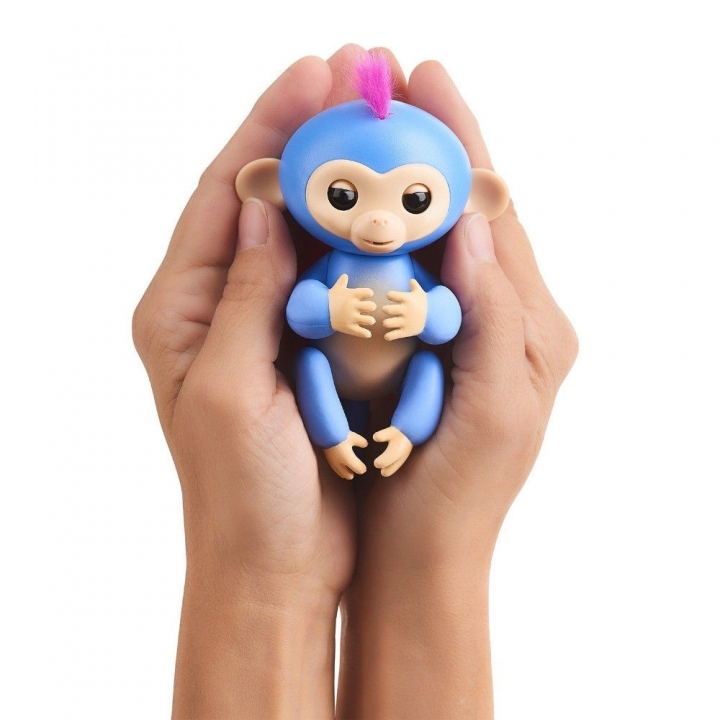 Fingerlings Interactive Baby Pet Electronic Monkey Kids Toy Funny Sound Gift Blue 13*5.2*22cm