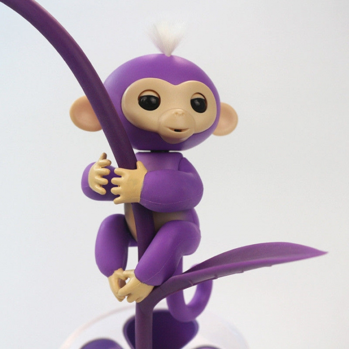 Fingerlings Interactive Baby Pet Electronic Monkey Kids Toy Funny Sound Gift Purple 13*5.2*22cm