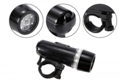 Waterproof 5 LEDs Bike Bicycle Front Head Light Safety Rear Flashlight Torch Lamp Bracket Lantern Black for Bike