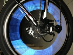 Reflective Stickers Motorcycle Bicycle Reflector Mountain Bike Cycling Security Wheel LED Light Blue for Bike