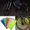 Reflective Stickers Motorcycle Bicycle Reflector Mountain Bike Cycling Security Wheel LED Light Red for Bike