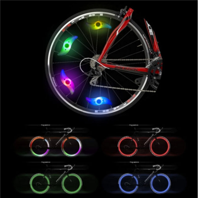 Cycling Wheel Spokes Lamp Mountain Bike Spokes S-Type Light Bicycle Riding Equipment Coloruied for Bike
