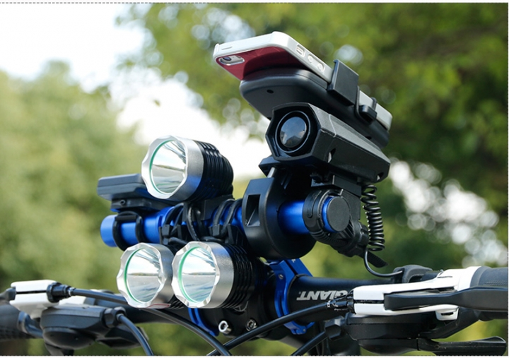 Bicycle Handlebar Extention Extender Bike Bicycle Mount Headlight Flashlight Lamp Phone GPS Holder Blue