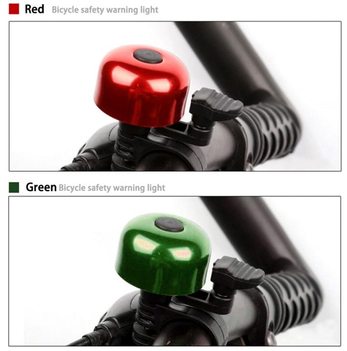 Loud Sound Bicycle Bell Handlebar Safety Metal Ring Environmental Bike Cycling Horn Green