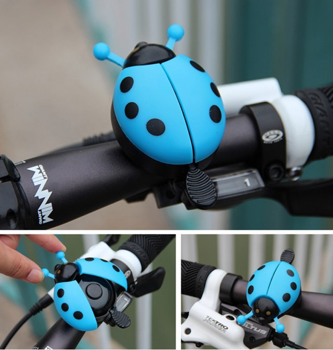 Cycling Riding Bell Mountain Bike Handlebar Mini Alarm Ring Loud Bell Beetle Bicycle MTB Bell Blue