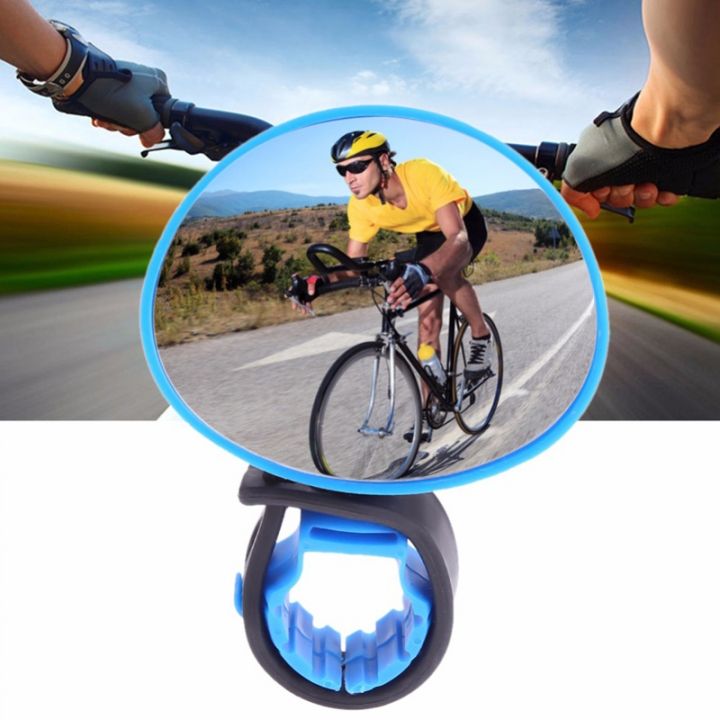 Cycling Bike Bicycle Mirror Adjustable Rear View Mirror Mountain Bike Handlebar Rearview Mirror Blue