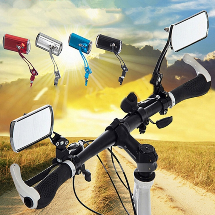 Mountain Bike Bicycle Handlebar Rearview Mirror Motorcycle Bicycle Modified Safety Rearview Mirror Red