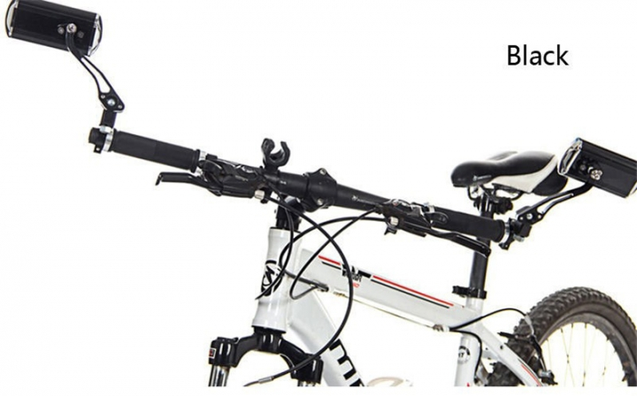 Mountain Bike Bicycle Handlebar Rearview Mirror Motorcycle Bicycle Modified Safety Rearview Mirror Black