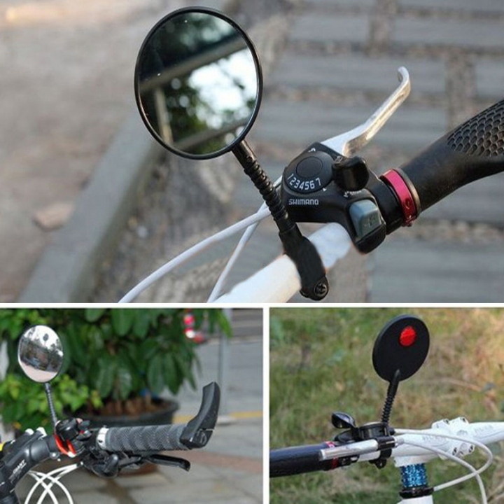 Cycling Bike Bicycle Sports Handlebar Angle Rearview Mirror Flexible Adjustable Cycling Bike Mirrors At Picture