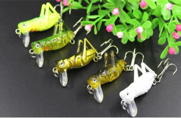 Fishing Lure with Hooks Crankbait Minnow Fishing Lures Hard Bait Grasshopper A