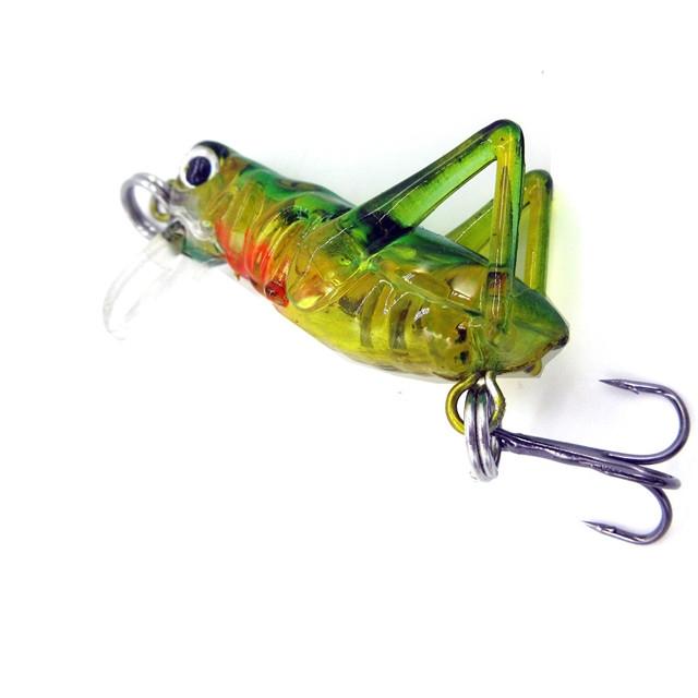 Fishing Lure with Hooks Crankbait Minnow Fishing Lures Hard Bait Grasshopper C