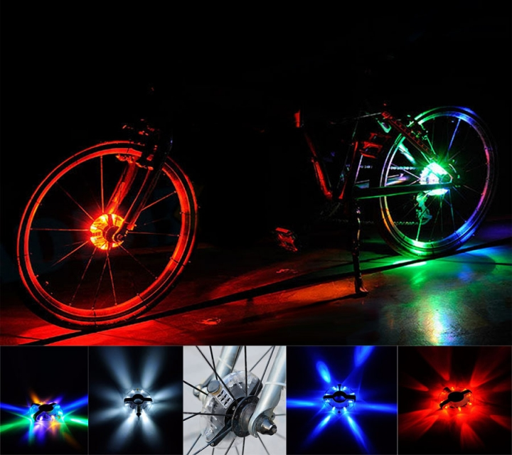 Bicycle Light Waterproof Bike Hubs Light Bike wheel Tire Hubs Warning Lamp Colorful for Bike