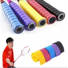 Absorb Sweat Anti Slip Racket Bat Overgrip Roll Tennis Badminton Handle Tape Black 0.75x25x1150mm