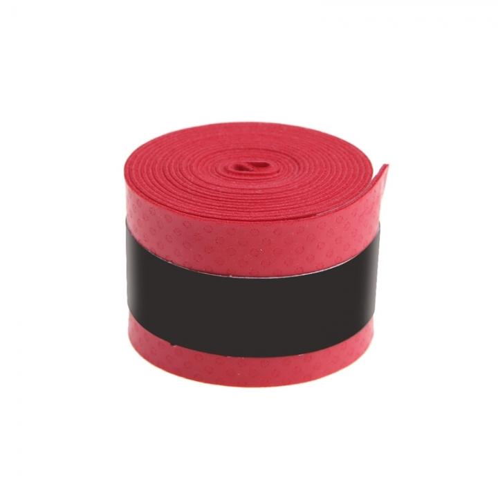 Absorb Sweat Anti Slip Racket Bat Overgrip Roll Tennis Badminton Handle Tape Red 0.75x25x1150mm