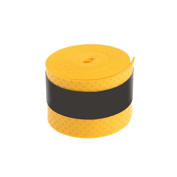 Absorb Sweat Anti Slip Racket Bat Overgrip Roll Tennis Badminton Handle Tape Yellow 0.75x25x1150mm