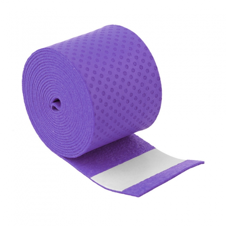 Absorb Sweat Anti Slip Racket Bat Overgrip Roll Tennis Badminton Handle Tape Purple 0.75x25x1150mm