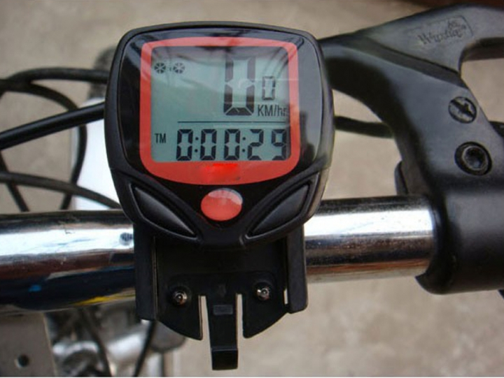 Bicycle Bike Computer LCD Digital Display Bicycle Speedometer Cycling Stopwatch At Picture