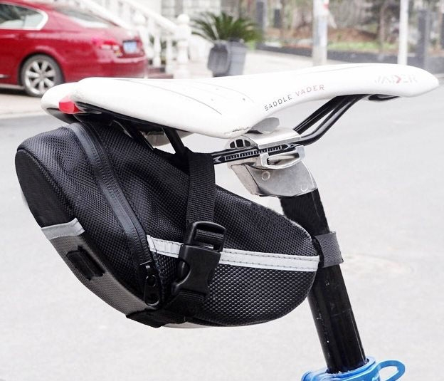 Outdoor Cycling Mountain Bike Bicycle Waterproof Saddle Bag Quick Release Back Seat Tail Pouch Bag At Picture