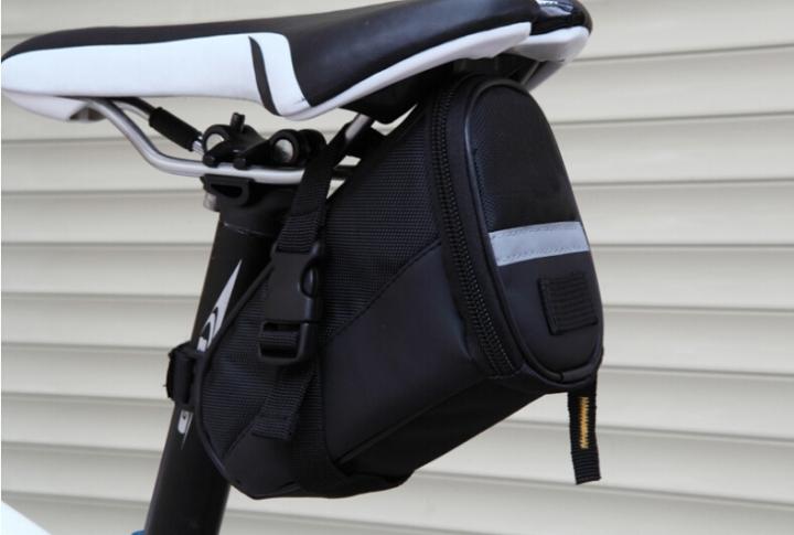 Bicycle Saddle Bag Bike Rear Bag Outdoor Sport Tool Bags Black