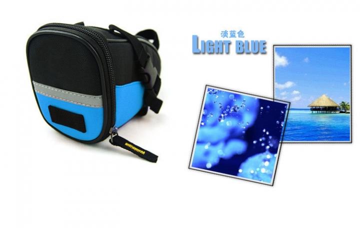 Bicycle Saddle Bag Bike Rear Bag Outdoor Sport Tool Bags Light Blue