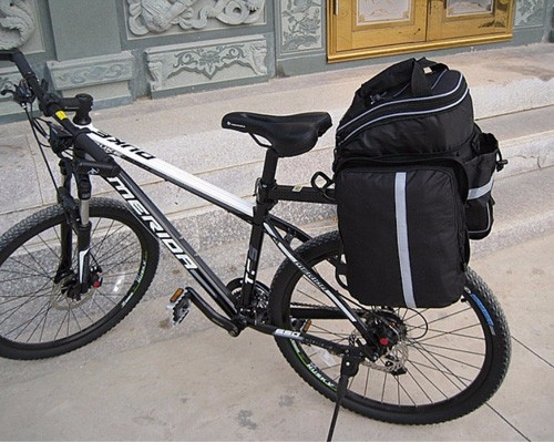 Waterproof Mountain Bike Cycling Bicycle Bag MTB Bike Rear Rack Tail Seat Trunk Bag Pannier Bags At Picture