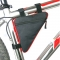 Waterproof Triangle Cycling Bicycle Bags Front Tube Frame Bag Mountain Triangle Holder Saddle Bag Red & Black