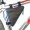 Waterproof Triangle Cycling Bicycle Bags Front Tube Frame Bag Mountain Triangle Holder Saddle Bag Blue & Black