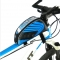 5.5 inch Outdoor Sport Touch Screen Phone Bag Bike Front Frame Bag MTB Mountain Bicycle Saddle Bag Blue