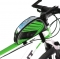 5.5 inch Outdoor Sport Touch Screen Phone Bag Bike Front Frame Bag MTB Mountain Bicycle Saddle Bag Green