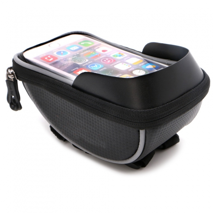 5.5 inch Waterproof Outdoor Cycling Mountain Road MTB Bike Bicycle Bag Frame Front Tube Bag Black