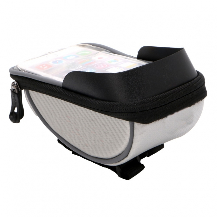 5.5 inch Waterproof Outdoor Cycling Mountain Road MTB Bike Bicycle Bag Frame Front Tube Bag Silver