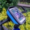 """Bike Bag Touchscreen Bicycle Bag Cycling Front Top Frame Handlebar Bag For 5.5"""" Cellphone Blue"""