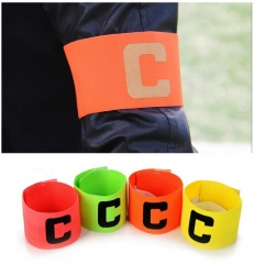 Football Soccer C words armband Flexible Sports Adjustable Player Bands Fluorescent Captain Armband Green One size