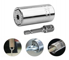 Universal Socket Wrench Head Socket Multifunctional Torque Sleeve with Drill Adapter for Repair At Picture