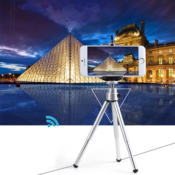 Tripod Stand Projection SLR Mobile Mini Desktop Scale Miniature Yuntai Tripod Camera Photography Silver