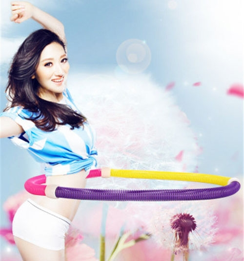 Household Spring Hula Hoop Soft Waist Slimming Exercise Fitness Equipment Folding Massage Circle At Picture