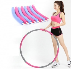 Waist Slimming Fitness Massage Foam Removable Slimming Circle Hula Hoop for Adult Children Pink