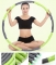 Waist Slimming Fitness Massage Foam Removable Slimming Circle Hula Hoop for Adult Children Green