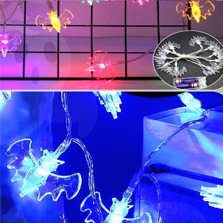 LED Skull Ghost Shaped LED String Lights Decoration Halloween Indoor Outdoor Lights Bat-20LED