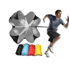 Football Drag Umbrella Track And Field Strength Speed Umbrella Speed Training Umbrella Black for Sport