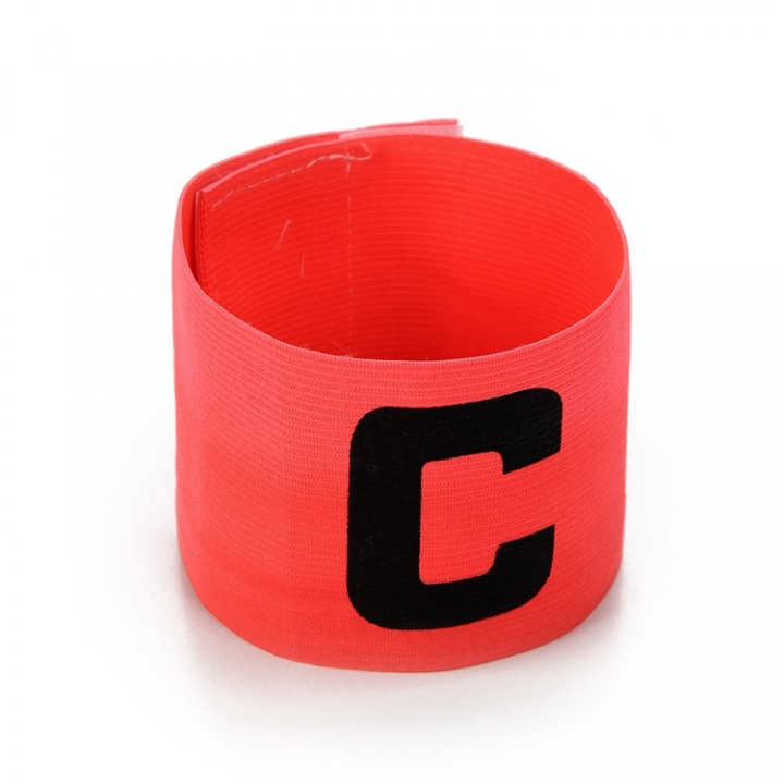 Football Soccer C words armband Flexible Sports Adjustable Player Bands Fluorescent Captain Armband Red One size