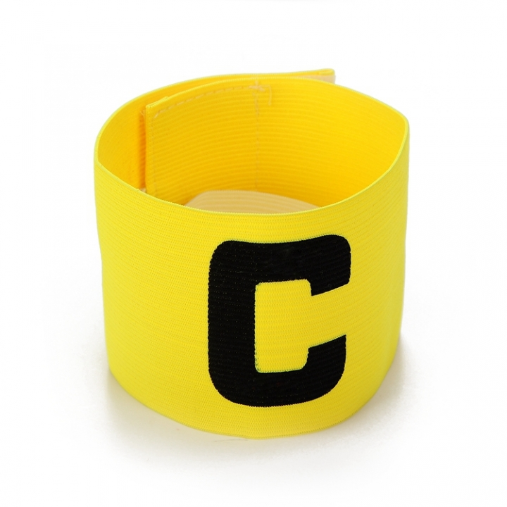 Football Soccer C words armband Flexible Sports Adjustable Player Bands Fluorescent Captain Armband Yellow One size