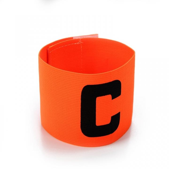 Football Soccer C words armband Flexible Sports Adjustable Player Bands Fluorescent Captain Armband Orange One size