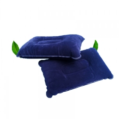 Outdoor Camping Pillow Air Inflatable Pillows Ultralight Folding Pillow Flocking Cushion Blue