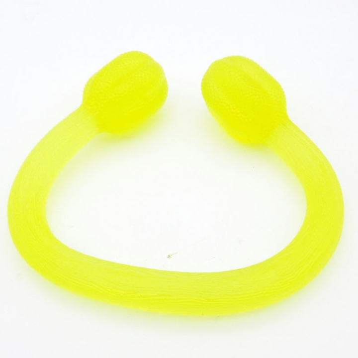 Pull Rope Stretched High Elastic Silicone Rally Yoga Stretch Band Resistance Squeezer Band and Cord Yellow
