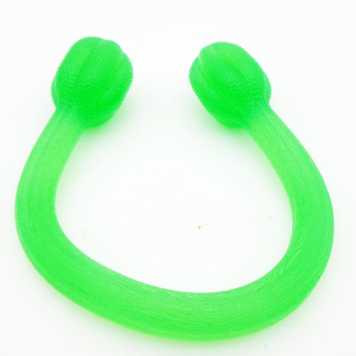Pull Rope Stretched High Elastic Silicone Rally Yoga Stretch Band Resistance Squeezer Band and Cord Green