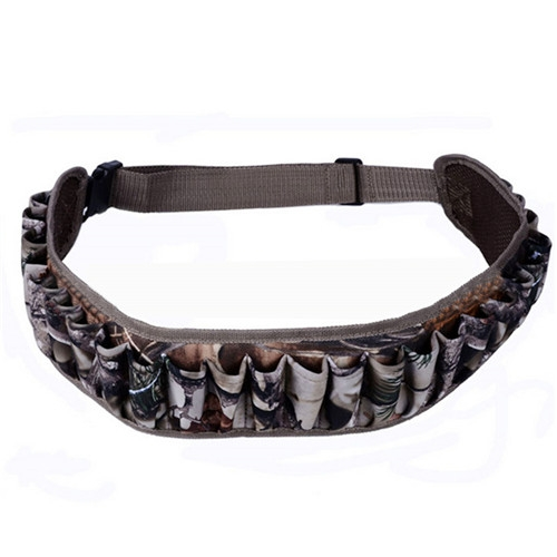 Tactical Outdoor Hunting Camouflage Hunting Bullet Bag 25 Hole Bandolier Shooting Belt Bag Reed Camouflage
