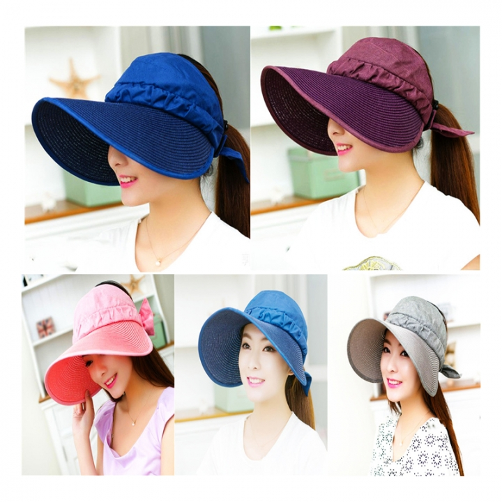 f7142405bec Sun Hats Sun Visor Hat Sun Hats with big heads Beach Hat Summer UV  Protection for