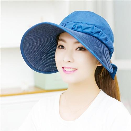 af7db96c1e0 ... Visor Hat Sun Hats with big heads Beach Hat Summer UV Protection for  women Light Blue  Product No  1244010. Item specifics  Seller SKU SP497QBL   Brand